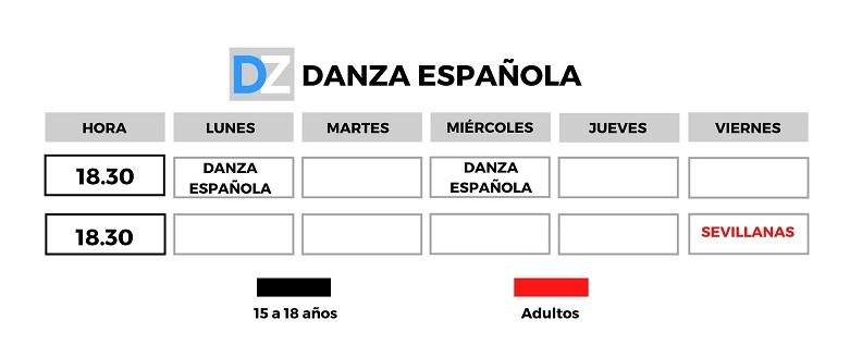 horario danza espanola