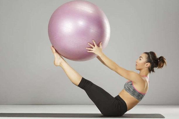 entrenamiento con fitball